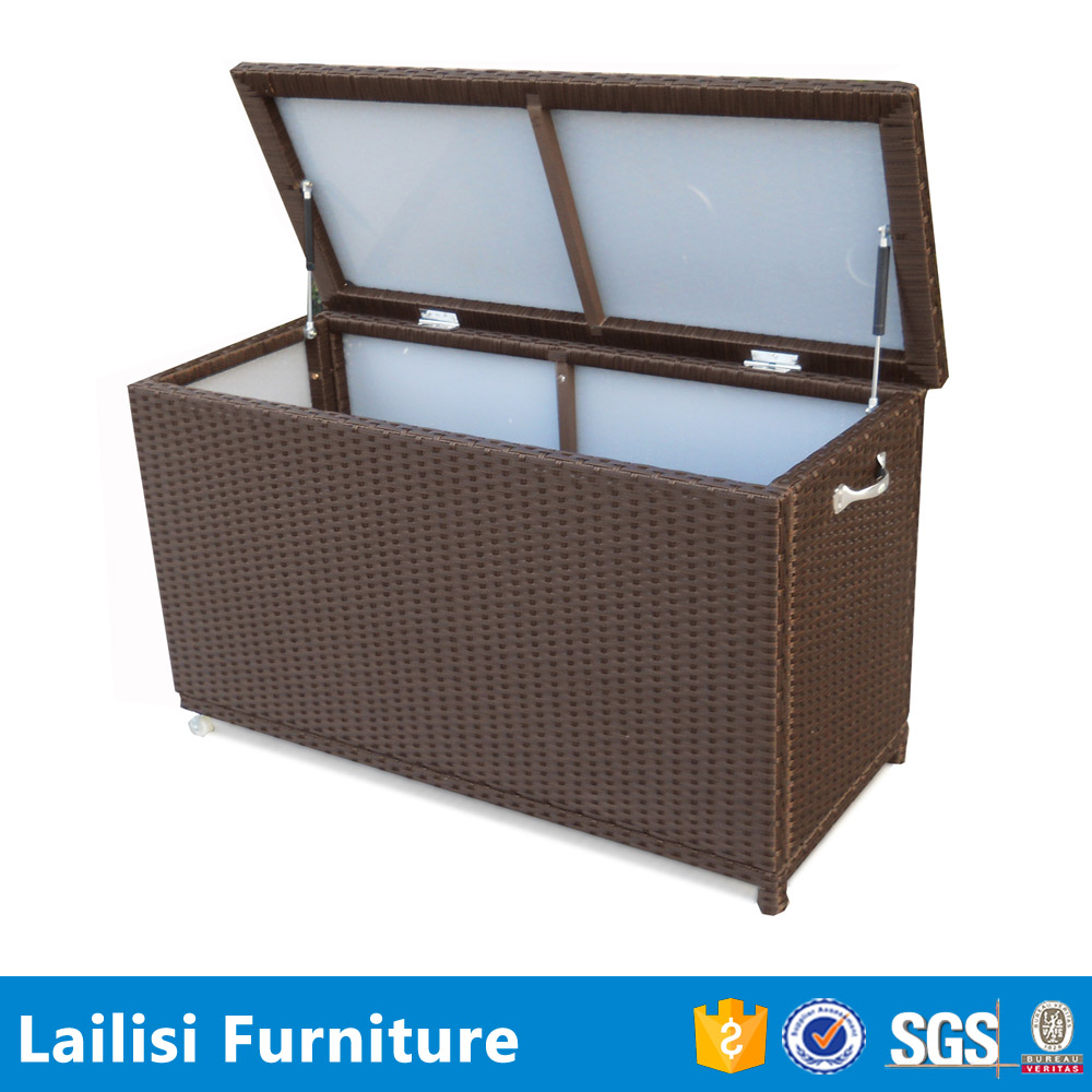 Waterproof Outdoor Cushion Storage Box - Buy Rattan Outdoor Storage