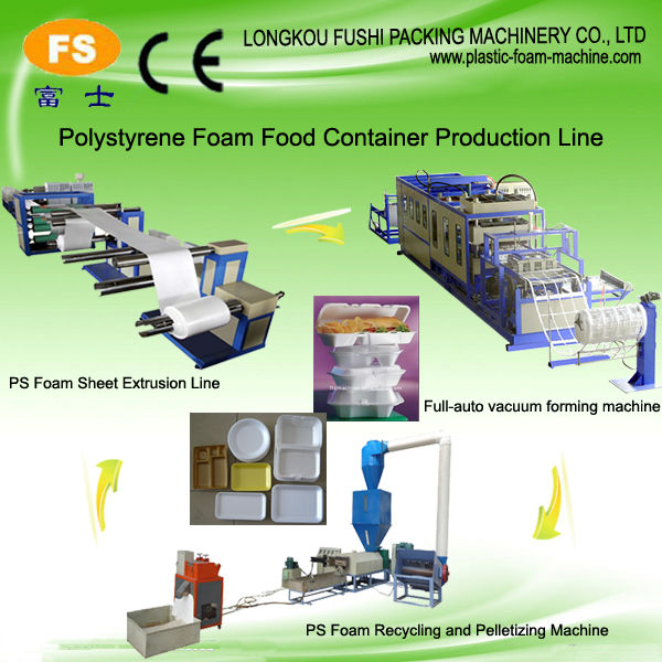 Disposable Plastic Foam Bowl/ Plate/ Dish Making Machine