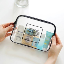 Clear PVC Cosmetic Bag Transparent