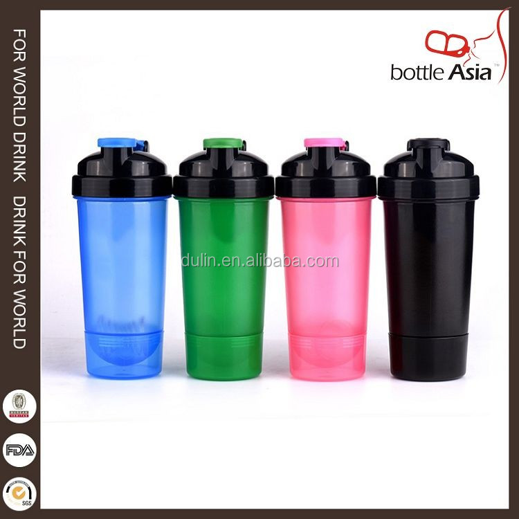 600ml Football Shape Dual Proteins Shaker With Proteins Storage Compartment