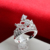 Fashion crown silver plated design engagement rings for men women