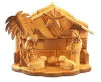 olive wood Musical Nativity