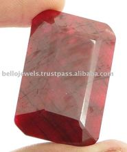 Emerald Cut Huge Size Blood Red Ruby Loose Gemstone From South Africa