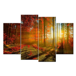 Forest Wallpaper Art Print/Giclee Canvas Print/Painting Print On Canvas