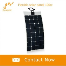 Custom Design Monocrystalline flexible solar panels for RV