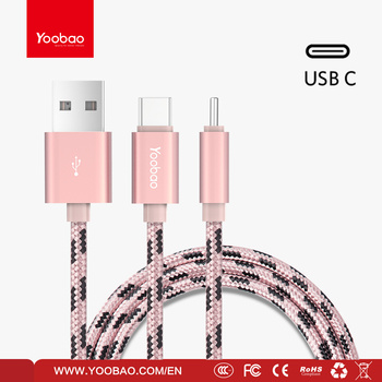 YOOBAO High speed usb c cable nylon braided usb type-c cable