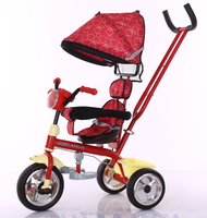 2016 new and hot sale 4 in 1 baby carrier tricycle with music and color light for best quality and low price