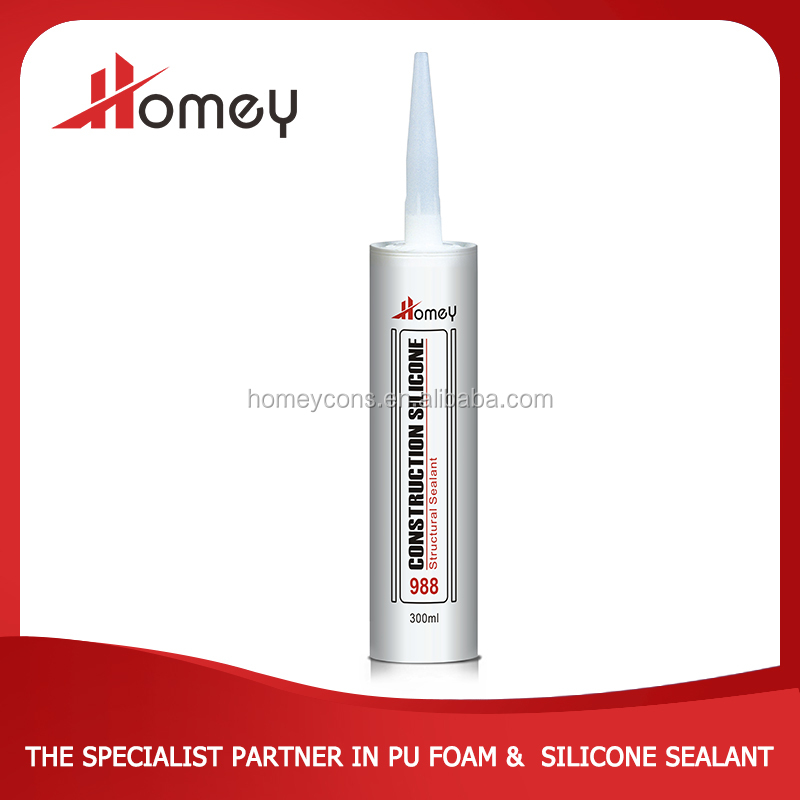 non toxic waterproof 988 glass silicone sealant adhesive