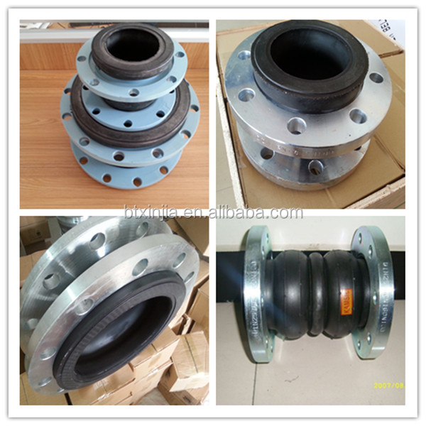 flanged elastic rubber expansion joint single sphere