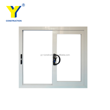YY Aluminum glass door and window AS2047 aluminum profile sliding windows for bath windows and doors manufacture