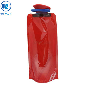 2017 new design bpa free Collapsible Water bag spout pouch for beverage
