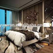 mingyuewan hotel bed rooms producers high gloss wooden modern bedroom suite