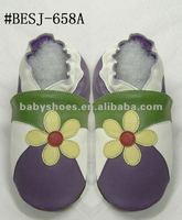 cheep cowhide soft sole new leather baby shoes