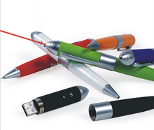 usb flash drive pen with laser presenter/ usb flash drive ink pen