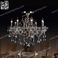 Chinese K9 crystal ceiling light big metal chandelier lighting