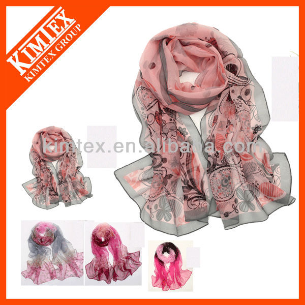Fashion style own design pure silk scarf