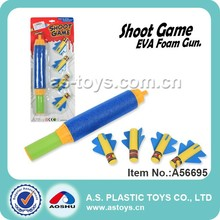 33CM EVA shooting foam rocket gun toy for kids