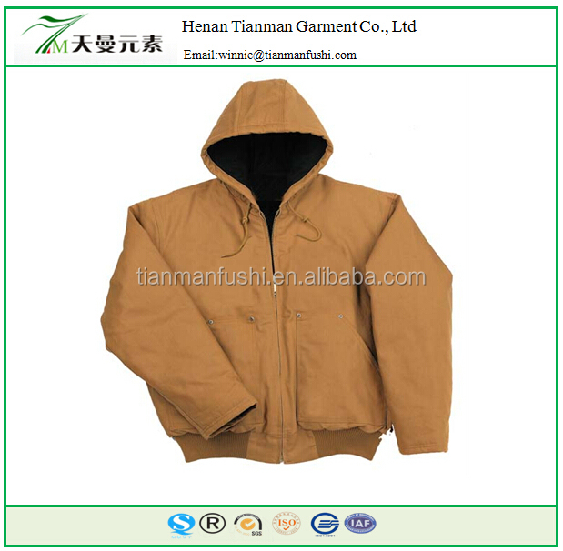 Fashionable OEM service Winter cotton padded jacket with detachable hoop