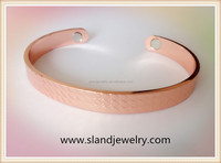 Men Health copper bracelet, magnetic copper bangle with Simple Texture