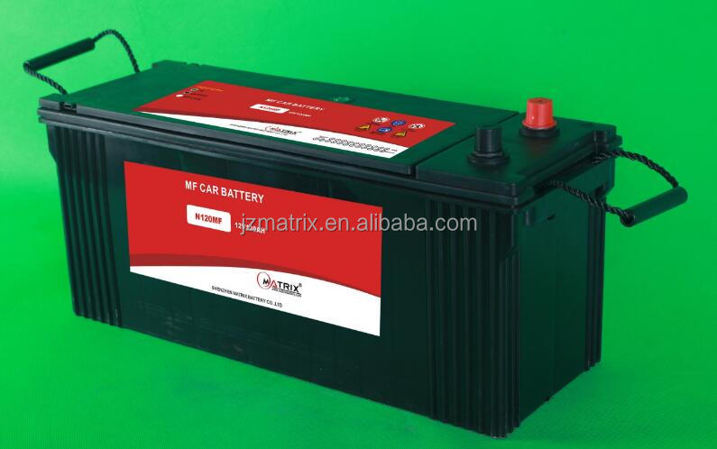 automotive car battery 12V 120AH Japanese standard