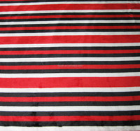 stripe polyester fabric for bedding , blanket