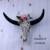 2017 New Faux Taxidermy long horns cow skull floral cow skull wall decor