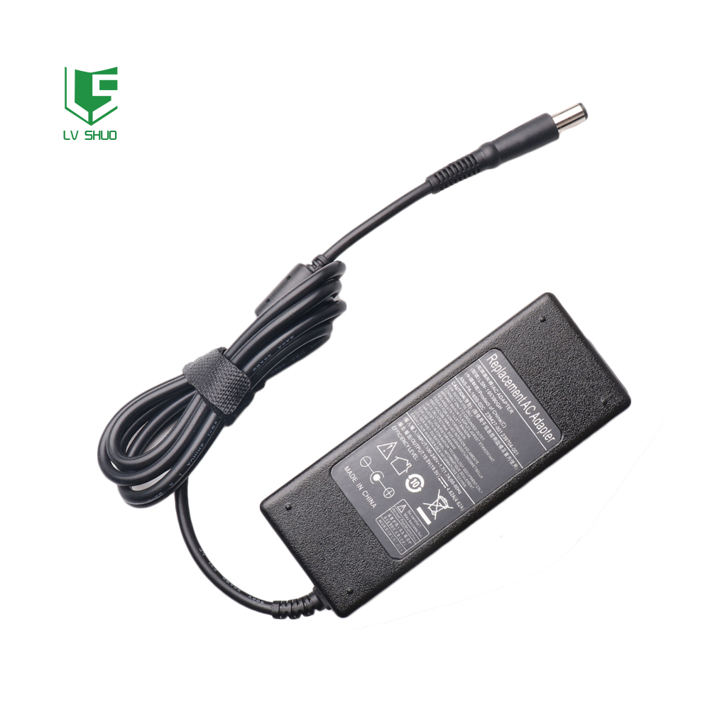 19.5V 4.62A 7.4x5.0mm 90W 3 wire grouded replacement ac <strong>adapter</strong> for DELL D630