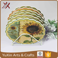 ceramic with cork mug pan coaster by print any designs 2015 hot sale