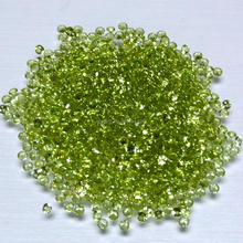 Huge Size Cubic Zirconia 40mm 30mm 20mm 132 Facted Peridot CZ Stone