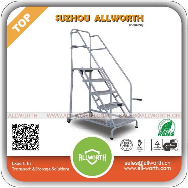 Low Price Collapsible Metal Ladder with Handrails