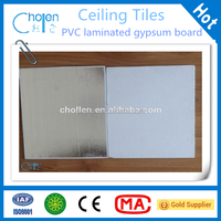 High quality top performance pvc laminated gypsum board with aluminum foil