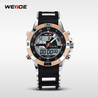 2015 hot sell WEIDE wrist watch for men WH1104 ultra thin watch big diver skeleton watch