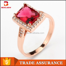 S925 sterling silver ring inlaid ruby sophisticated jewelry accessories female wedding rings