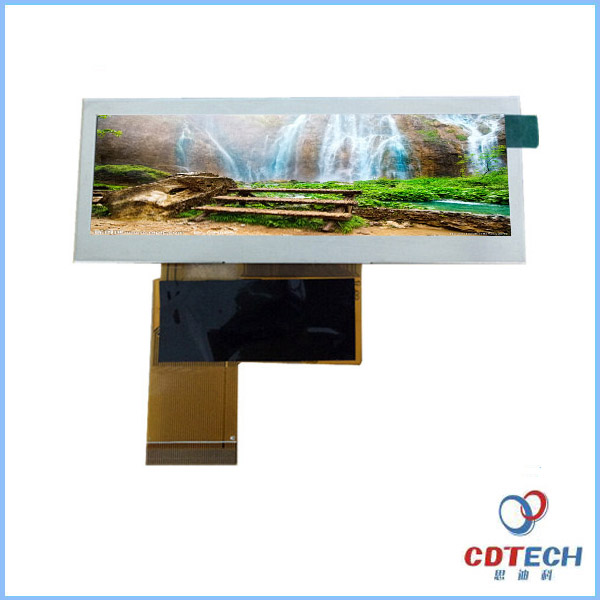 Stretched TFT LCD Display 3.9 inch 480*128 dots small size industrial monitor