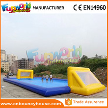Hot sale inflatable soap football playground soccer in motion