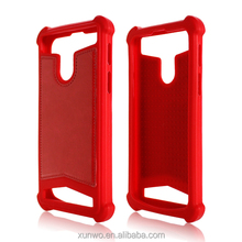 LOW MOQ in stock Slicon + Leather Universal phone case, universal silicone bumper case for mobile phone