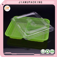 Disposable plastic blister plastic food packing tray