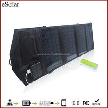 14W Monocrystalline solar panel cells , folding solar charger , foldable solar panel with the nest quality