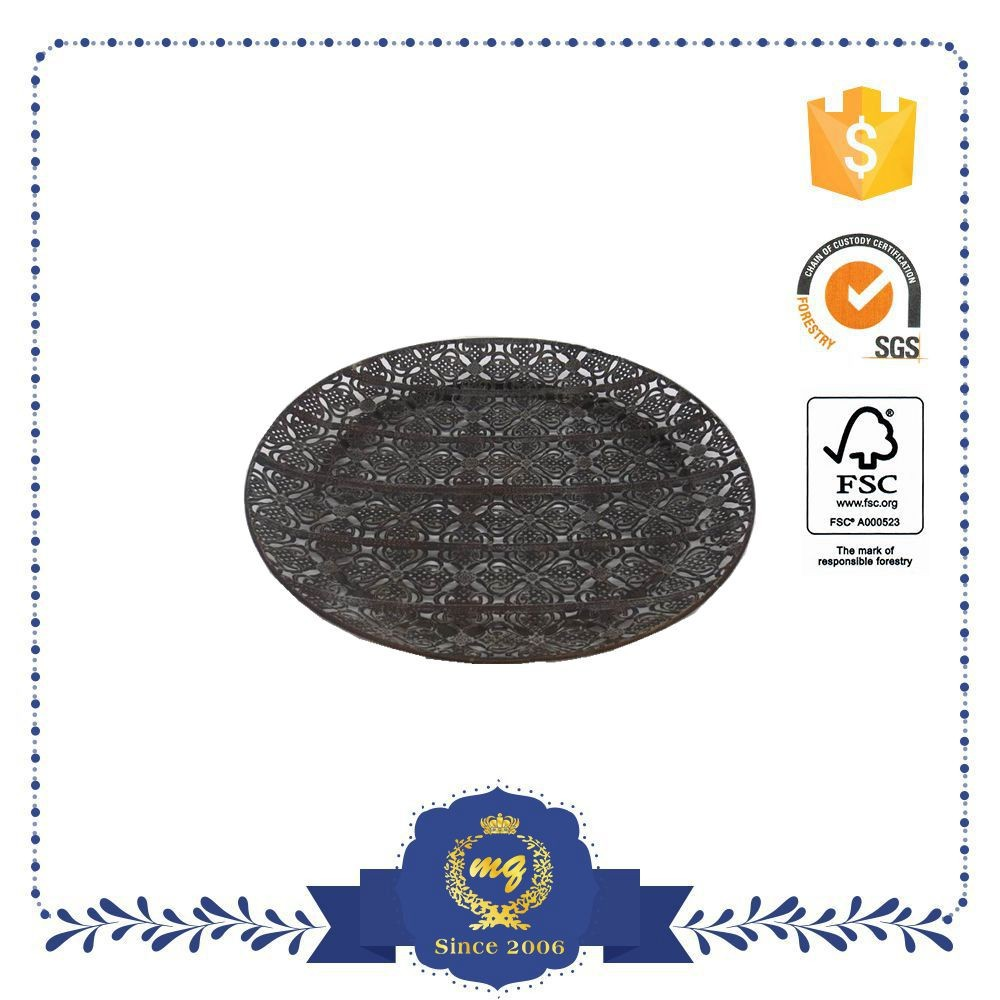 Factory Price Restaurant Dinner Luxury Metal Plate.