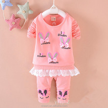 HT-CCS 2017 Korean Style Babies Girls 2PCS Sets Child Girl Clothes 1 Set new style kids clothing children