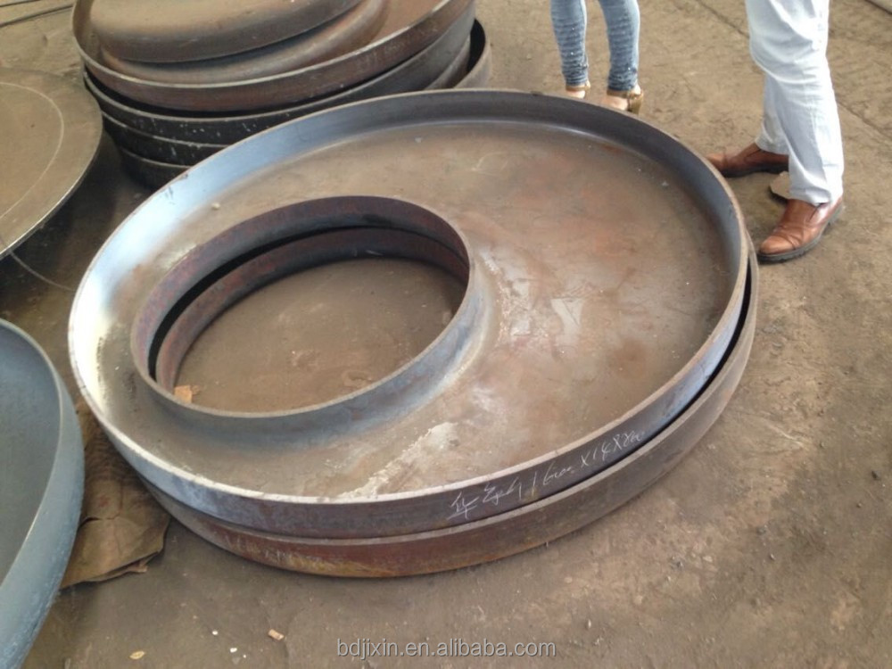 flat dish end flat tubeplate end with manhole for vessels