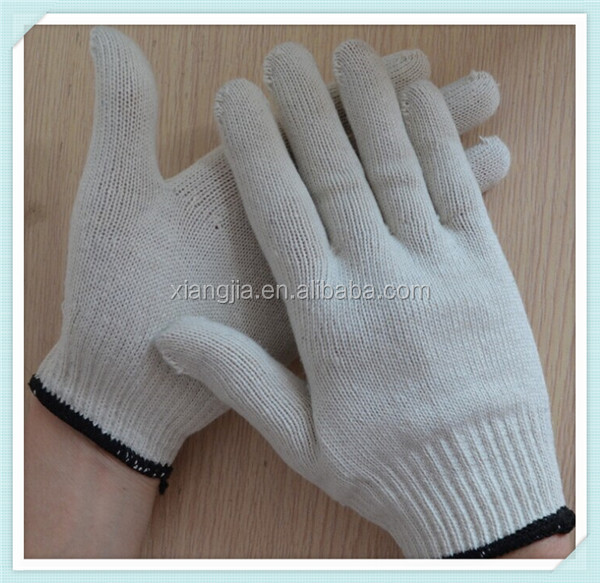 7guage and 10guage natural white knitted cotton glove,retailers general merchandise