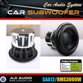 "Made in China 3k rms car subwoofer with huge motor speaker spl 12"" subwoofer neo motor"