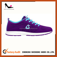 EVA sole flyknit running shoes latest design soft insole customized sneaker for boy and girl