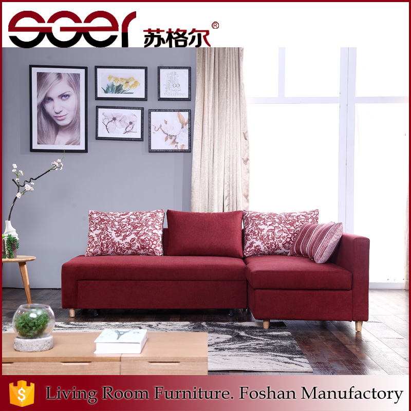 Latest model design living room storage box sofa bed