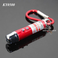 3 in 1 Mini Aluminum Carabiner LED Electric Torch Keyring