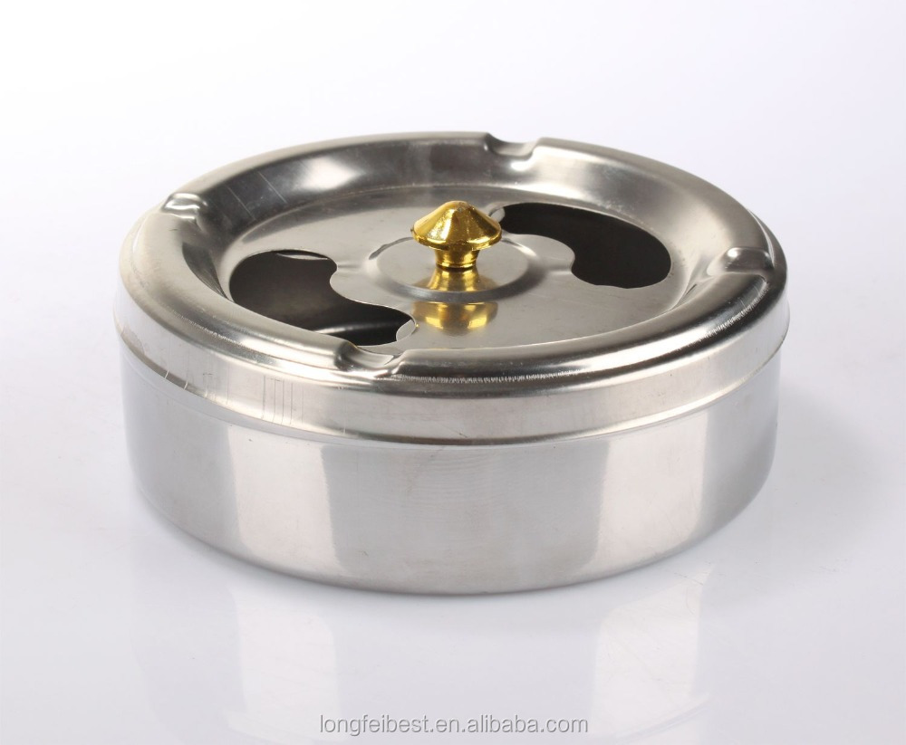 2016 new arrival cheap windproof stainless steel ashtray