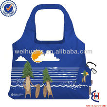 custom foldable polyester shopping bag manufacturer