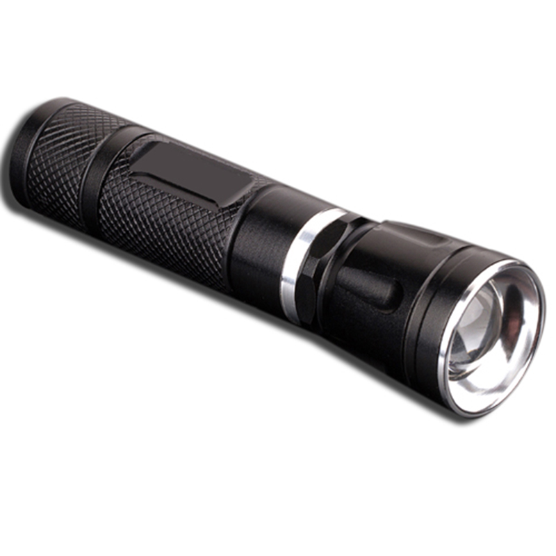 4modes tail switch telescopic focusing lens aluminum flashlight