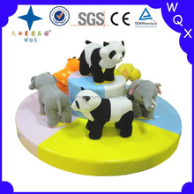 lovely animal carousel mini soft amusement park carousel